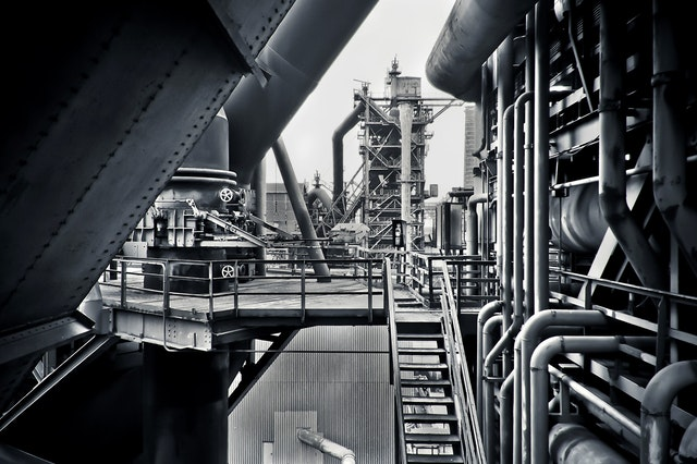 Black and white factory